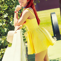 Asuka, Yellow Dress Thumbnail